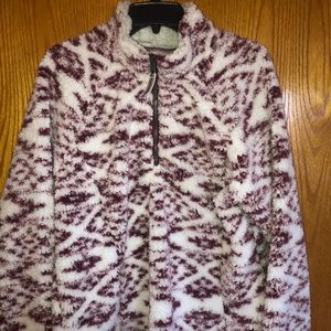 Women's size XL  1/4 zip pull over Sherpa top